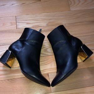 Zara Black Ankle Booties
